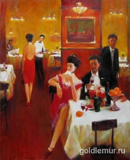 Вечернее кафе (120х100) 2007г.