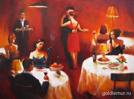 Вечерний танец (80х100)