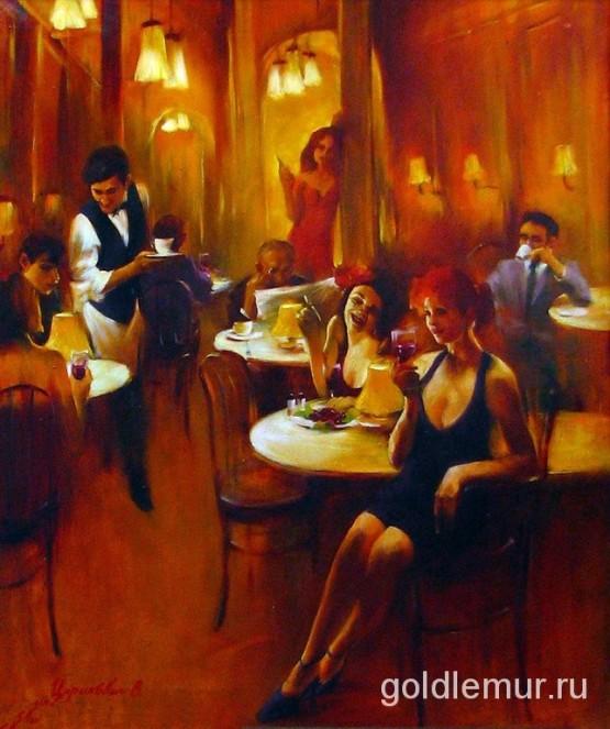 Вечер в кафе (90х75)