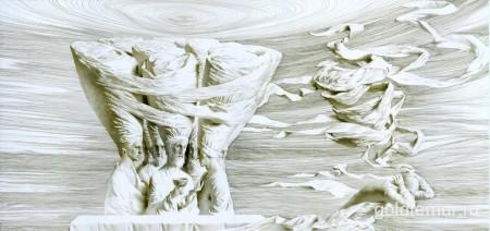 Изгой, бумага, тушь, перо 40х86см. (2012)