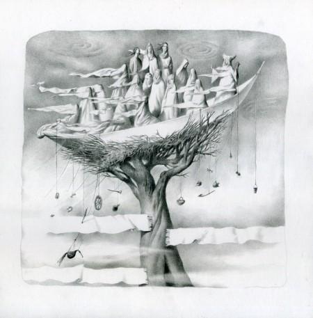 Туман ярам, бумага, карандаш, 30х30см. (2011)