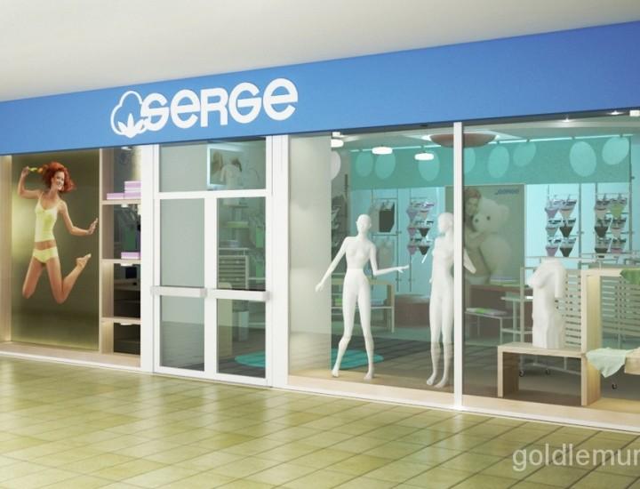 Дизайн интерьера фирменного магазина SERGE