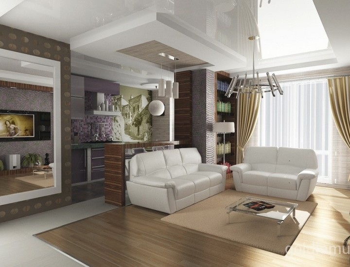 Дизайн интерьера трех комнатной квартиры на заказ