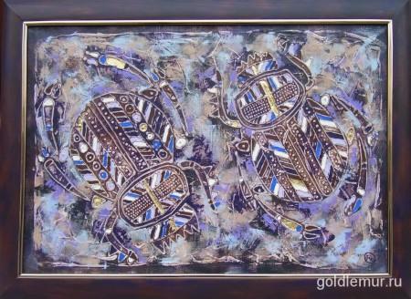 22.Scarabeus-sacer-2006g.-40h60-holst-akril.