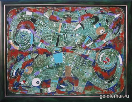 34.Jemenskij-hameleon-2008g.-60h80-holst-akril