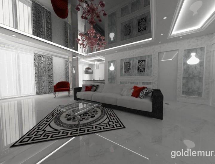 Неоклассический дизайн интерьера квартиры