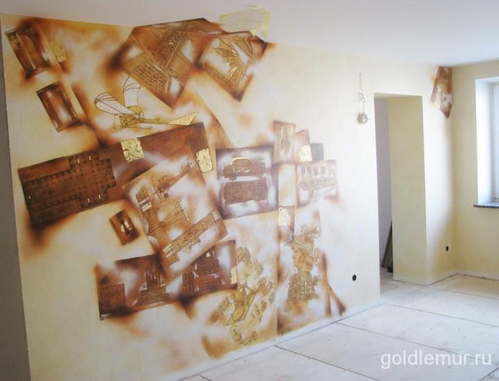 Роспись в интерьере — Гостиная комната