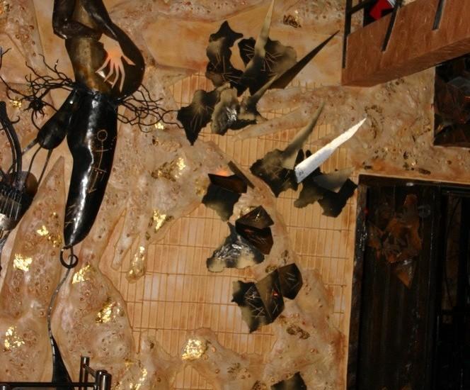 Мозаика из натурального камня в клубе «Сфера»