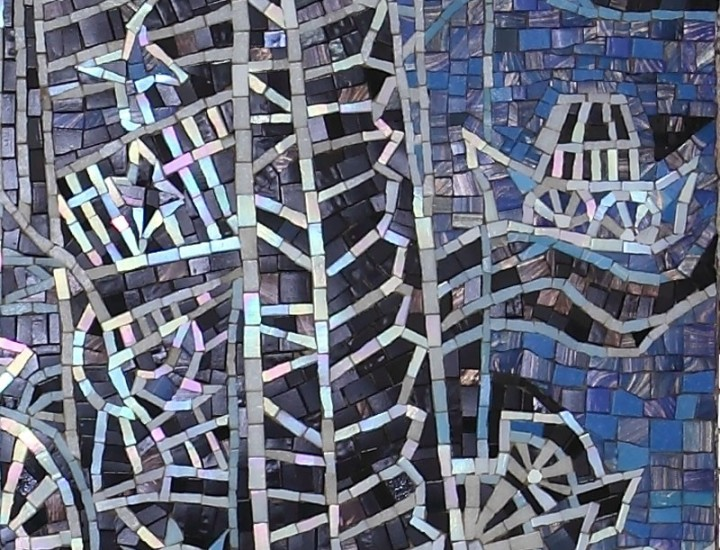 Мозаика в квартире на стене — Мельница